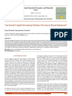 Can Social Capital Investment Reduce Poverty in Rural Indonesia?