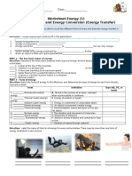 Worksheet Energy_Form and Transfer Energy
