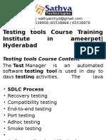 Testing Tools course training institute hyderabad