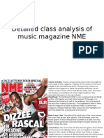 Detailed Class Analysis of Music Magazine NME