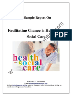 Sample Report on Facilitating Change in Health and Social Care By Instant Essay Writing