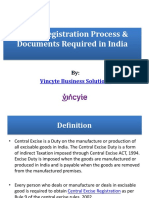 Excise Registration Online Process & Documents Required