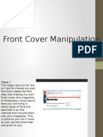 Manipulation on Front Cover and Contents Page