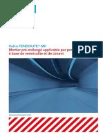 Fiche Technique Tunnel - CAFCO FENDOLITE® MII