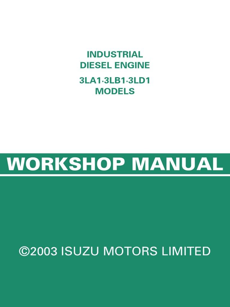 isuzu 3ld1 diesel engine engine technology rh scribd com Isuzu 3LD1 Manual Isuzu 3LB1 Filters