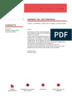 Modelo Carta de Presentación.