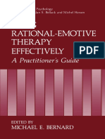Albert Ellis Auth., Michael E. Bernard Eds. Using Rational-Emotive Therapy Effectively a Practitioner's Guide