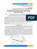 Determination of Porous Zones Using Vertical Electrical Sounding Data from Basement Rocks of Kwal, Kanke, North-Central Nigeria