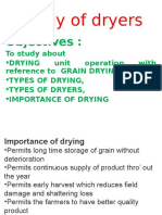 Study of Dryers Practical