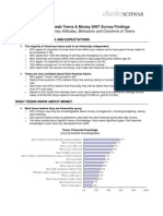Teens and Money Survey Factsheet | 2010 Schwab MoneyWise Survey