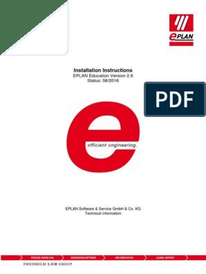 EPLAN Education 2 6 Installation Instructions En