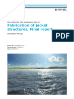 ISO NORSOK Analysis Fabricationjackets Final Report Task 3 April2015
