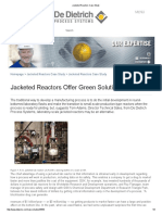 Jacketed Reactors Case Study