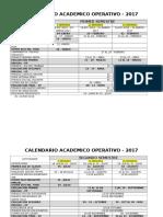 Calendario Acad- Oper- Año 2017