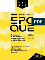 Programme Salon Epoque 2017