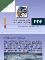 Cualidades físicas y sus métodos de desarrollo