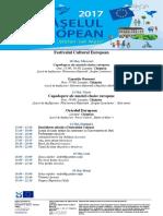 Agenda EU Cultural Festival 2017 RO