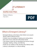 emergent literacy scenario-meghan williams pptx