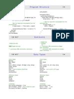 Comparison VB CS Java CS