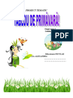 Proiect Tematic  - PRIMAVARA