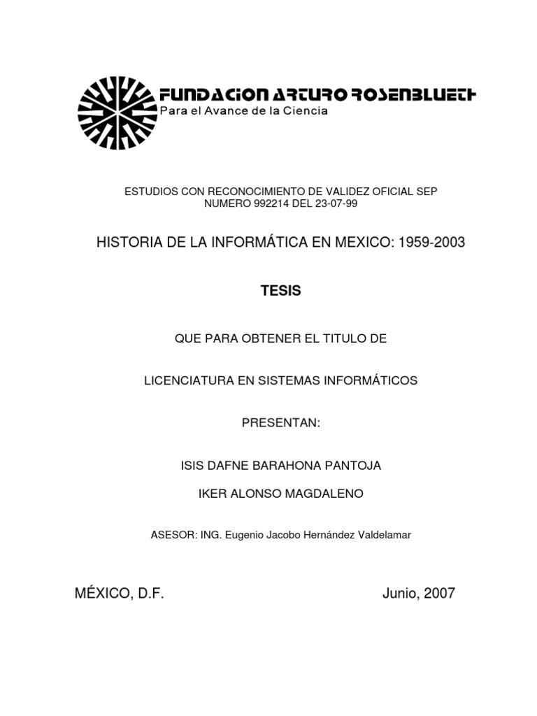 Historia de la informatica en Mexico