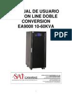 Manual Usuario Ups on Line Doble Conversion Ea900ii 10-60kva 15