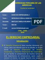 1.- Introducción Al Derecho Empresarial 2016