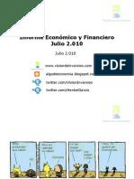 Informe Económico y Financiero Julio 10
