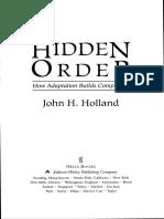 John Holland Hidden Order How Adaptation Builds Complexity