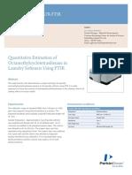 April - Polymers - Quantitative Estimation of Octamethylcyclotetrasiloxane in Laundry Softeners Using FTIR