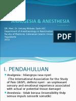 Analgesia & Anestesia
