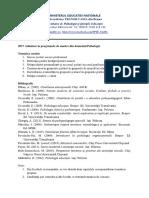 Tematica Admitere Master PSH