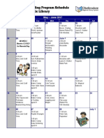 Pierce County Public Library Summer Program Events Calendar
