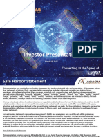 Investor Relations - Exhibit 99.1 to Form 8-K