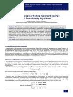 Optimal Design of Rolling-Contact Bearings via Evolutionary Algorithms