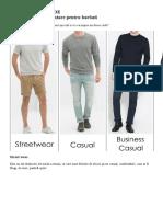 Cele 6 Stiluri Vestimentare Pentru Barbati