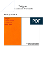 Estigma La identidad deteriorada Goffman