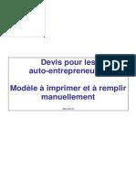 Modèle Devis Auto-entrepreneur maroc