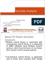 State Space Variables