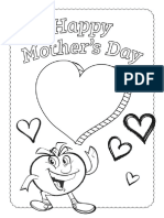 Mother's Day Coloring Card & Coupon