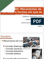 Aula 2 - Mecanismos e Formas de Corrosão