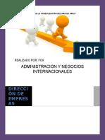 Trabajo Académico de Dirección de Empresas