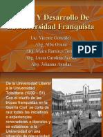 la universidad en el periodo franquista