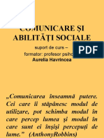 Comunicare Şi Abilităţi Sociale