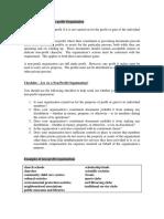 Characteristics Non Profit Organisation