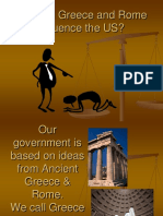 how did greece and rome influence us