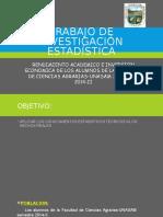 Trabajo de Investigación Estadística
