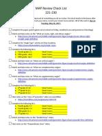 map review check list 221-230-teacher version