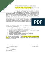 Acta de Autorizacion de Pases y Uso de Terreno
