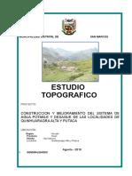 ESTUDIO TOPOGRAFICO QUINHUARAGRA